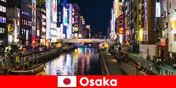 Các khu giải trí và món ngon đang chờ du khách nước ngoài tại Osaka Nhật Bản