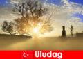 Khách du lịch đi bộ đường dài tận hưởng thiên nhiên tuyệt đẹp ở Uludag Thổ Nhĩ Kỳ