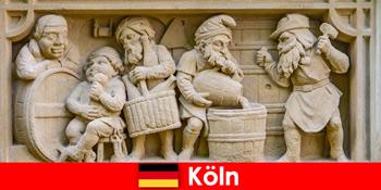 Nghệ thuật nhà máy bia với ẩm thực địa phương ở Cologne Đức cho khách hàng tuần châu Âu